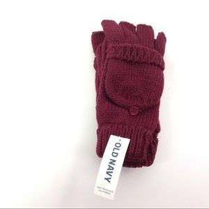 Old Navy Kids Gloves L-XL Burgundy New